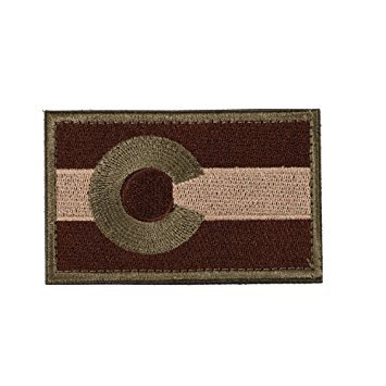 Tactical Colorado State Flag Patch with Velcro for molle bags, operator hats, and military uniforms (Colorado Olive Drab Green, 2