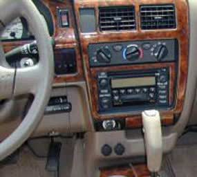 toyota tacoma 2001 2002 2003 2004 interior burl wood dash trim kit set automotive. Black Bedroom Furniture Sets. Home Design Ideas