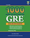 Columbia 1000 Words You Must Know for Gre, Richard Lee, 1927647177