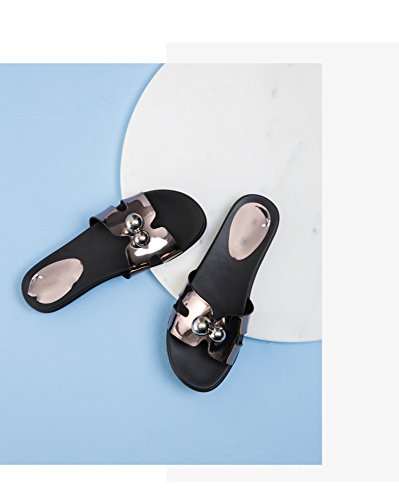 E Open Da Fondo Estivi Pantofole A Abbigliamento 39 Toe Donna Dhg Estivo Sandali grigio Moda Piatto Selvatici 5Afq7vw