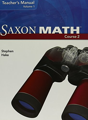Saxon Math Course 2: Teacher Manual 2007