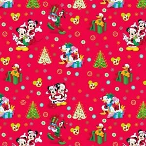 Mickey Mouse CHRISTMAS Fabric Disney Fabric SC1061 - 0.5M ...