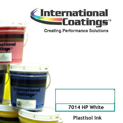 Plastisol Screen Printing Ink ICC 7014 White Gallon