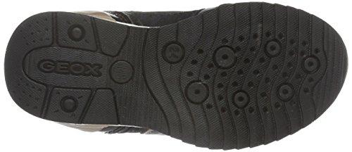 Geox J Maisie Girl a, Zapatillas Para Niñas Schwarz (BLACKC9999)