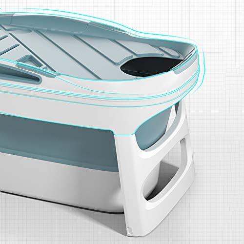 折りたたみ式バスタブ日本のシンプルなスタイル全身風呂バケツ滑り止め/蓋付ポータブルバスタブ大人用バスタブ断熱バスタブ浸漬バスタブPP素材子供用バスタブトラベルバスタブ-113×64×55cm