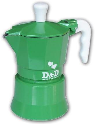 Espresso D & De Cafetera 3 Tazas, Diseño de Flores, Color Verde: Amazon.es: Hogar
