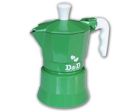 Espresso D & De Cafetera 3 Tazas, Diseño de Flores, Color Verde ...