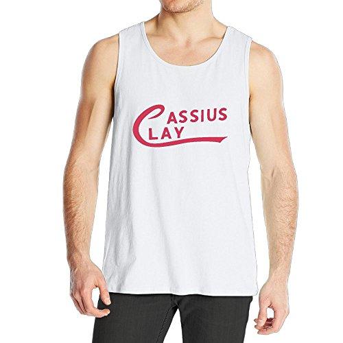 Quliuwuda Men's Ali Cassius Clay Logo Adult Muscle Bodybuilding White Shirt 3X Tank Tops