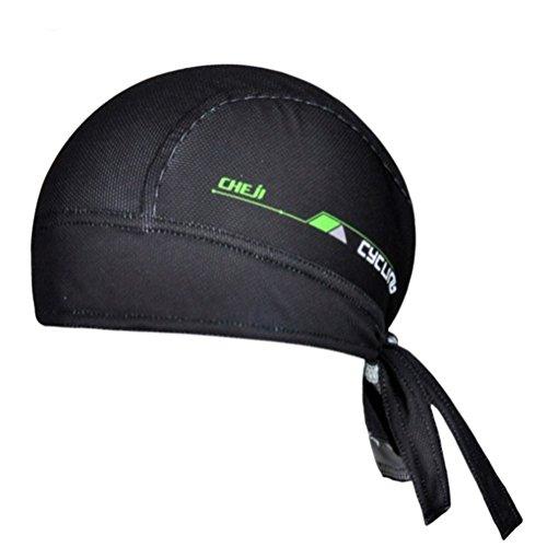 Ksweet Cycling Dew Rag for Men Skull Caps Sweat Beanie Cool Head Wrap Doo Rag Summer Sport Helmet (Black)
