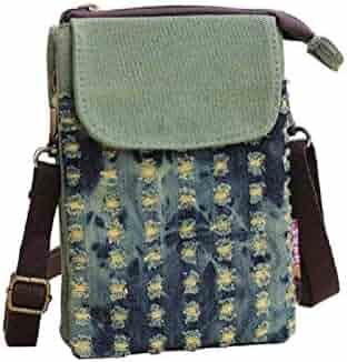 10d65bffacc1 Small Cell Phone Purse Womens Mini Crossbody Shoulder Bags Cotton ...