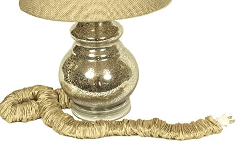 Wheat Tan Silk Lamp Cord Cover 9 ft long 100% REAL SILK