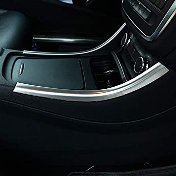 YIWANG 2pcs Carbon Fiber Chrome Center Console Decoration Strips Trim For Benz A GLA CLA Class W176 A180 Carbon Fiber