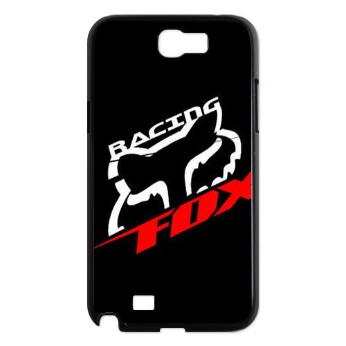 New Cover Housing Faceplate (Black Top Design Fox Racing Samsung Galaxy Note 2 N7100 Faceplate Hard Cell Protector Housing Case Cover Snap On NEW)