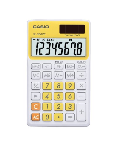 Casio SL-300VC Standard Function Calculator, Yellow from Casio