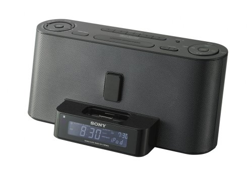 Sony ICF-C1IPMK2 Speaker System and Clock Radio with iPod Dock (Black) by Sony