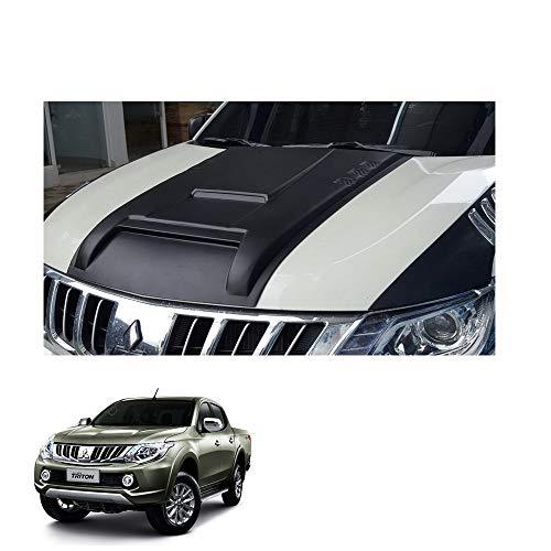 Powerwarauto Big Bonnet Hood Scoop V5 Cover for Mitsubishi L200 Triton Medium Matte Black