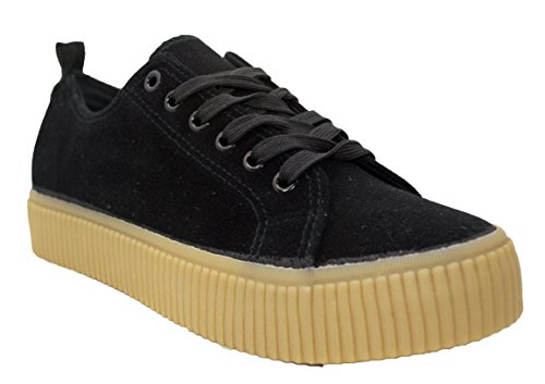 Shop Pretty Girl Womens Sneakers Casual Canvas Shoes Solid Colors Low Top Lace Up Flat Fashion 2.0 Black Rih Rih aCmVpLX