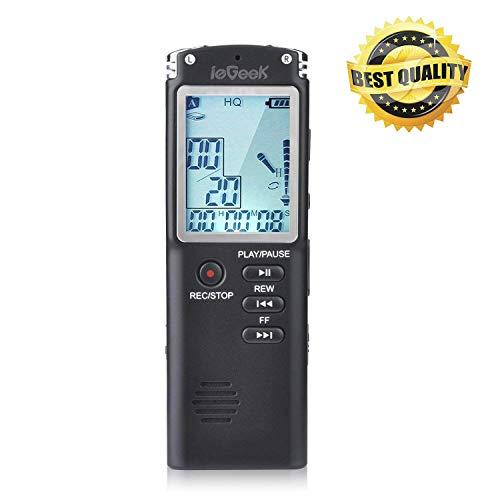 Digital Voice Recorder, ieGeek 16GB 1536Kbps USB Sound Audio Recorder...