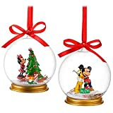 Disney Minnie Mouse and Mickey Mouse Snowglobe Ornament Set -- 2-Pc.