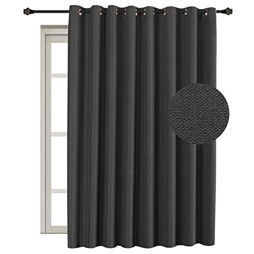 nal Room Divider Curtain Textured Linen Extra Long and Wide Thermal Insulated Panels -Grommet Wider Curtain Large Size 100