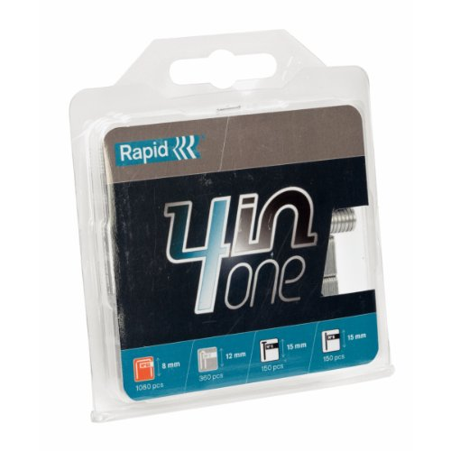 Rapid Staple 4-in-1 Multi-Pack, No.53/8/9/7 Staples and Brads, High Performance, 40109414-1740 Pieces
