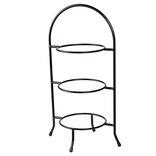 Footed Serving Platter - Creative Home 73044 3-Tier Dessert Plate Rack, 18.5-Inch H