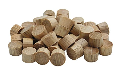 General Tools 313038 3/8-Inch Flat Head Plugs, FSC Ethically Sourced Oak, 50-Pack (Wood Flooring Fsc Certified)