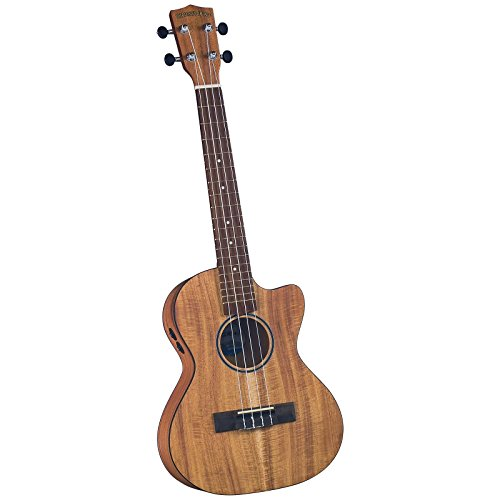 Diamond Head DU-350TCE Flamed Acacia Electric/Acoustic Cutaway Tenor Ukulele with Bag by Diamond Head