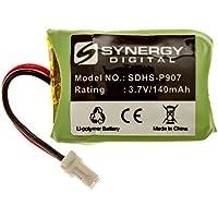 Plantronics C054 Wireless Headset Battery Li-Pol, 3.7 Volt, 140 mAh, Ultra Hi-Capacity Battery - Replacement Battery for Plantronics CS540 Wireless Headset Battery