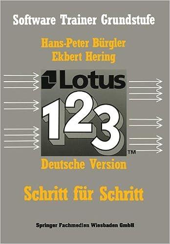 Download e-book for iPad: Lotus 1-2-3: Schritt für Schritt by ...