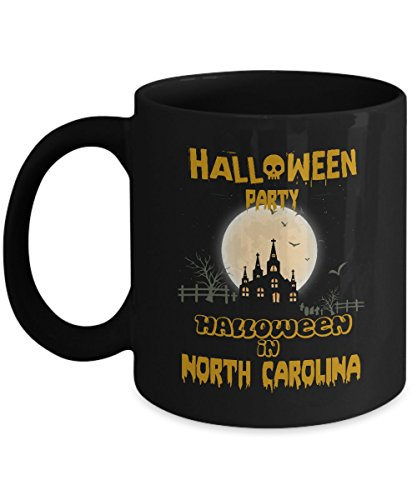 Safety halloween party, special event coffee mug - Halloween Party in North Carolina - Cool gift mug For For Best Friend On Halloween - Black 11oz medium mug