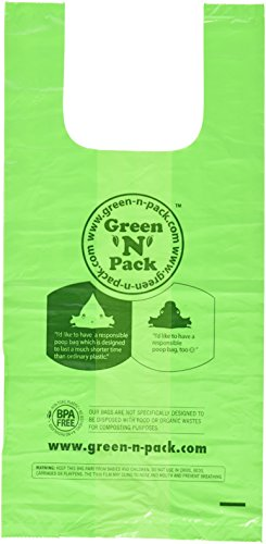 Green'N'Pack Extra Large Dog Waste Bags, 100-Count Premium Handle Bags for Giant Breeds (Heavy Duty Solution)