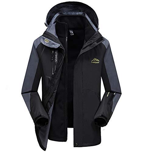 Chaqueta De Con Prueba LDZY Antimanchas Escalada Extraíble Black De Capucha A Chaqueta Impermeable Caliente Coat Ski Hombre Montaña Viento De 3 1 Para En qSZSrd