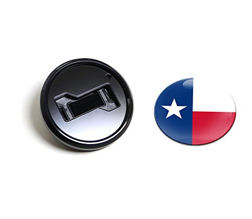 GoBadges BKC029 Flag Texas - Magnetic Black Grill Badge Holder Combo / Universal Fit / No Tools Required / Weather-Proof And Car-Wash Safe