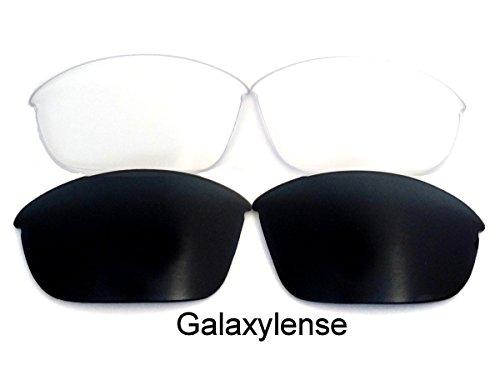 Galaxy Replacement Lenses for Oakley Half Jacket 2.0 Black&Clear Polarized 2 - Lenses Oakley 2.0 Jacket Xlj Half