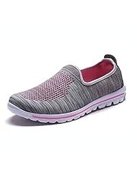 DailyShoes - Zapatillas Deportivas de Espuma viscoelástica para Mujer, 6207l Black Lime Mesh