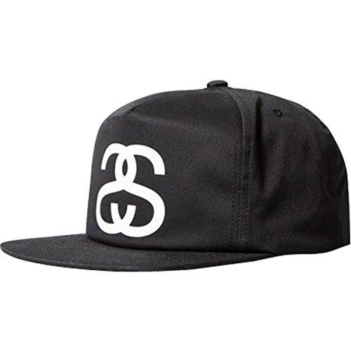 Stussy Mens Big SS Link SP15 Snapback Adjustable Hat/Cap One Size Black