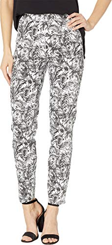 FDJ French Dressing Jeans Women's Botanical Toile Pull-On Ankle in Black Black 12 28