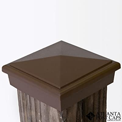 4x4 Economy Post Caps (Nominal) Dark Brown (Case of 12) - 10 Year Warranty by Atlanta Post Caps