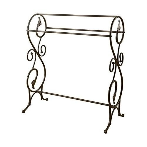 Bathroom Metal Towel Stand Chic Distressed Towels Holder Display Rack Stand by trois_s