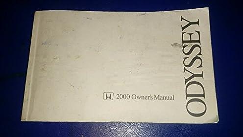 2000 honda odyssey owners manual honda amazon com books rh amazon com Honda Odyssey Interior Custom Honda Odyssey