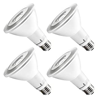 Hyperikon LED PAR30 Bulb, 10W=70W, Non Dimmable, Long Neck Flood Light, CRI 80+, UL, Soft White, 4 Pack