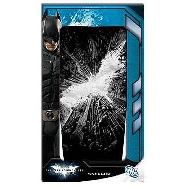 Batman Dark Knight Rises Clear Pub Glass Pint (Batman Black Knight Rises)