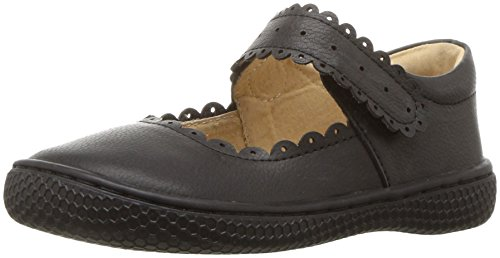 Livie & Luca Girls' Briar School Uniform Shoe, Black, 4 Medium US Toddler