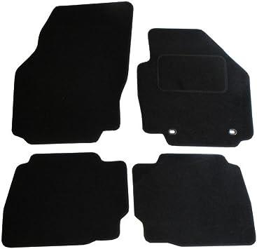 Jvl Fußmatten Für Ford Mondeo Mk4 2007 2012 Passgenaues Automatten Set Mit 2 Ovalen Clips Schwarz Auto