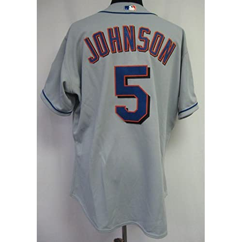 best website 133b4 d2342 2002 New York Mets Mark Johnson #5 Game Issued Possibly Used ...