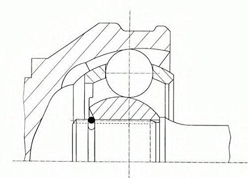 Antriebswelle SPIDAN 22902 Gelenksatz