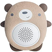 SoundBub, White Noise Machine and Bluetooth Speaker | Portable and Rechargeable Baby Sleep Sound Soother by WavHello – Benji the Bear, Brown