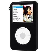 DIGIFLEX Black Silicone Rubber Cover Case for iPod Classic 80GB 120GB