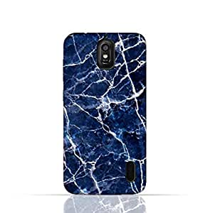 Huawei Y625 TPU Silicone Case With A Blue Marble Texture Design.